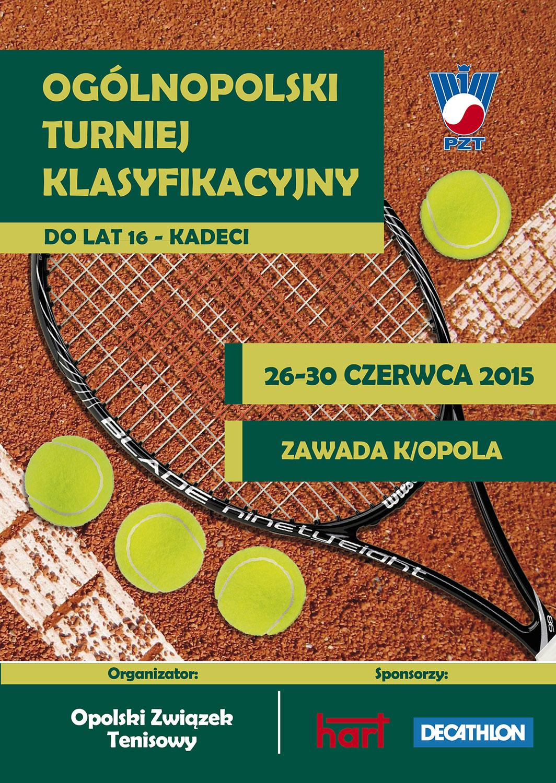 Plakat na turniej OTK do lat 16