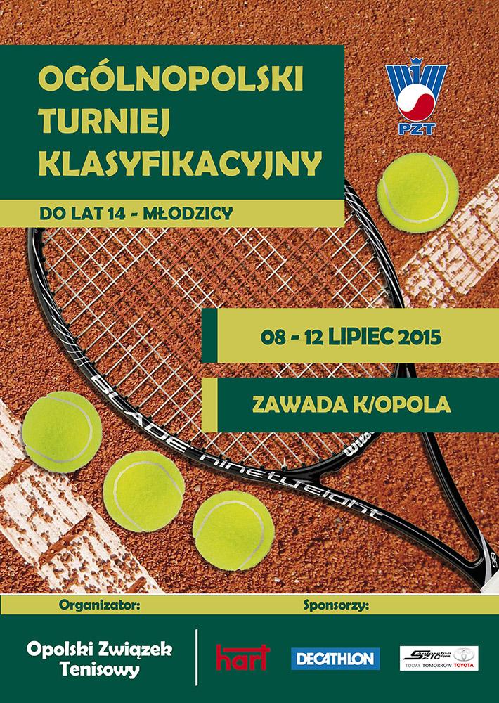 Plakat na turniej OTK do lat 14