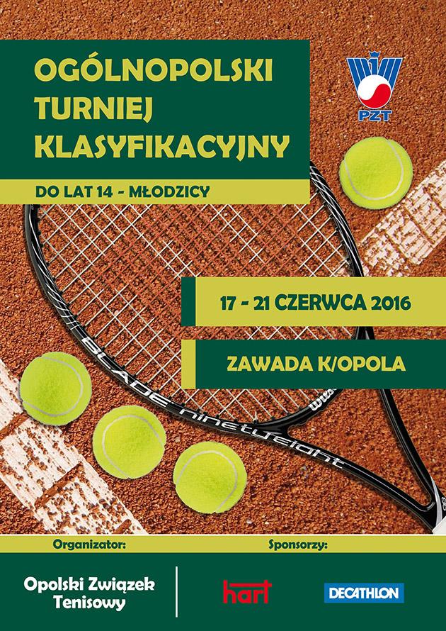 Plakat na turniej OTK Młodzicy + logo