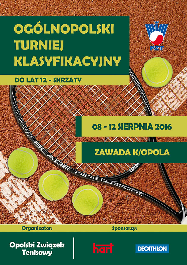 Plakat na turniej OTK Skrzaty + logo